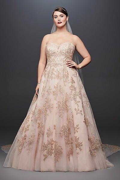 Oleg Cassini 8cw6767 Wedding Dress Used Size 14 650 Plus