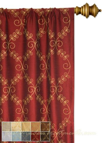 Novara Curtain Drapery Panels Red Curtains Drapery Panels