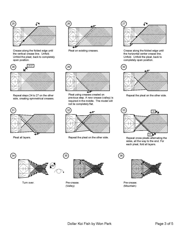 koi fish diagram 3 of 5 money origami dollar bill art [ 1159 x 1500 Pixel ]