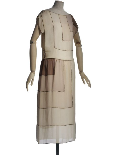 A gorgeous art deco summer dress by Vionnet, 1922 ...