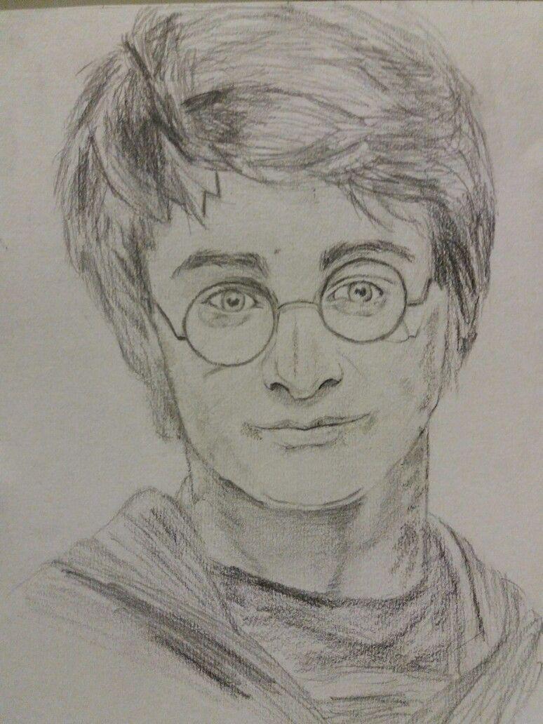 Dessin Realiste Crayon Graphite Harry Potter Visage Portrait