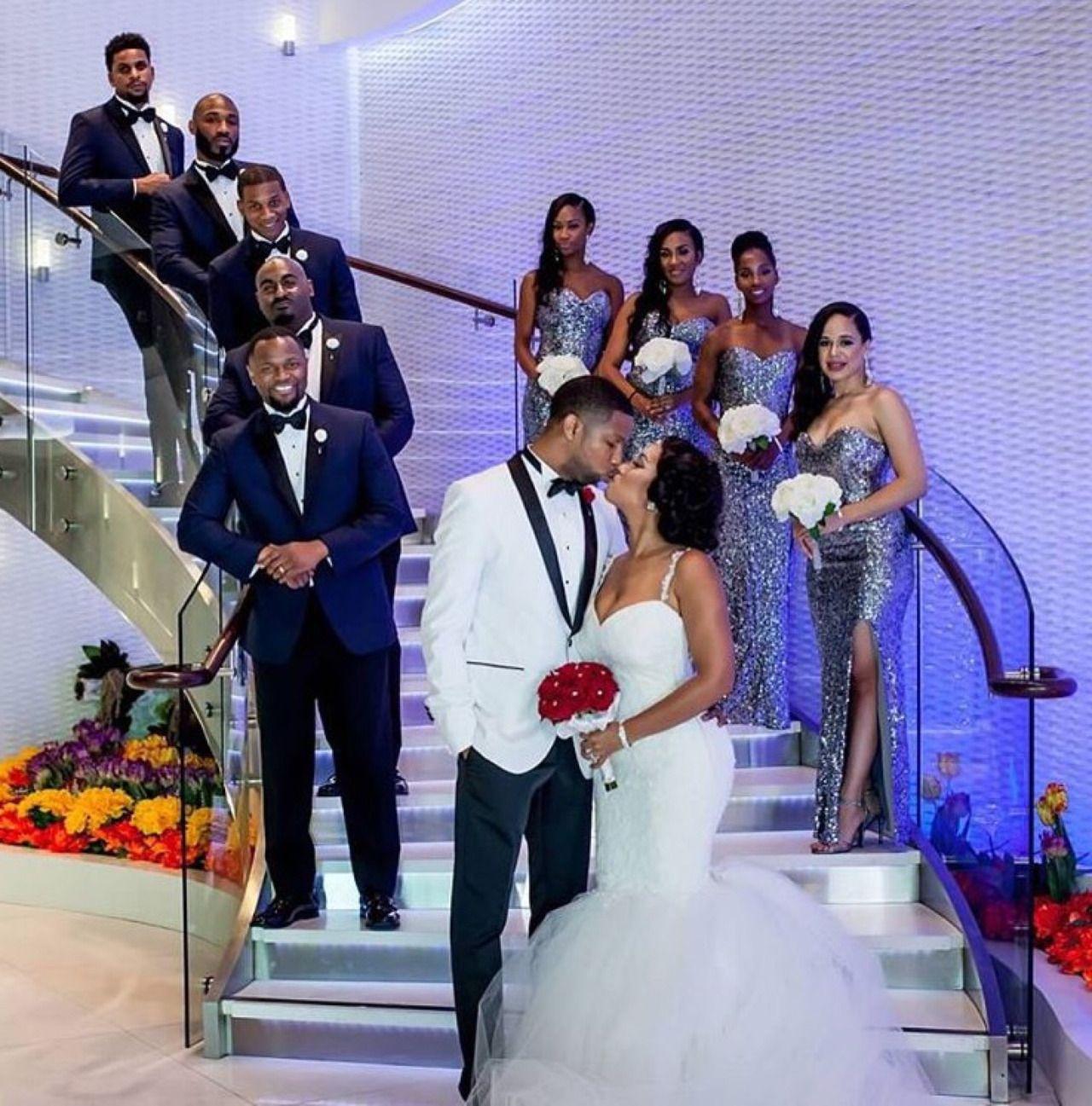 Loveblackcouples Groomsmen Wedding Photos Mermaid Wedding Dress Wedding Poses