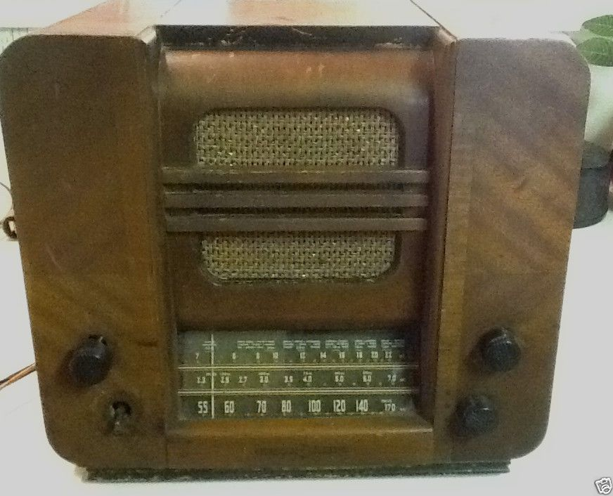 Vintage 1930 S 1940 S General Electric Ge Wood Cabinet