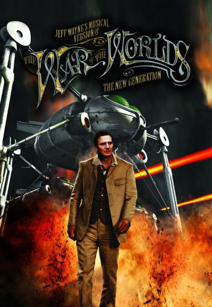 Liam Neeson in the stage version of Jeff Wayne's The War of the Worlds.