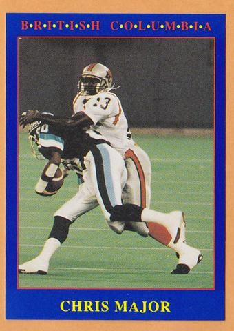 Chris Major CFL card 1990 Jogo #206 BC Lions South Carolina Gamecocks | Sports cards, Cfl, South ...