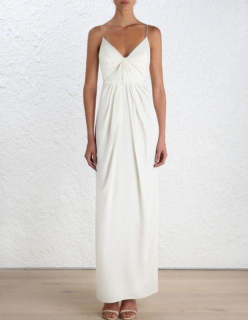 06d19fff3171f Silk Folded Long Dress