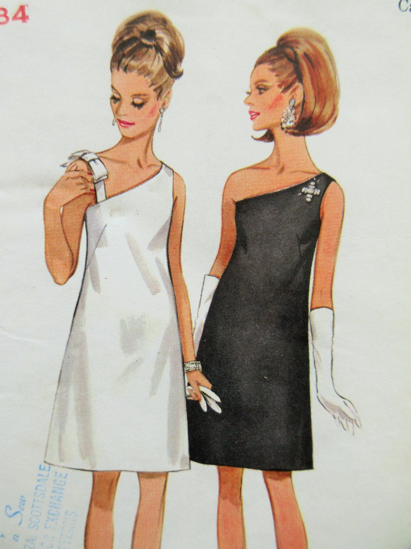 Vintage Butterick 4769 Sewing Pattern One Shoulder Dress 1960s Dress Pattern Bust 34 Cocktail Dress 60s Sewing Pattern Evening Dress Dresses Vintage Dresses Vintage Sewing Patterns [ 1500 x 1125 Pixel ]