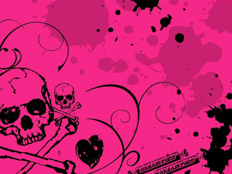 Pink Skull And Cross Bones Skulls And Crossbones Image