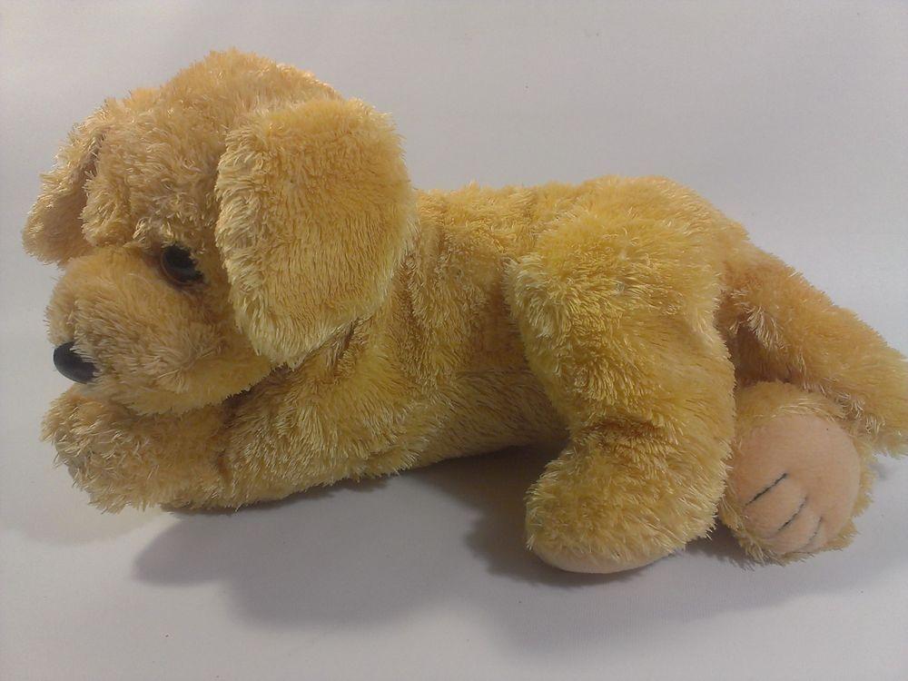 Ty Plush Golden Retriever Puppy Dog Bean Bag Buddy Stuffed Animal