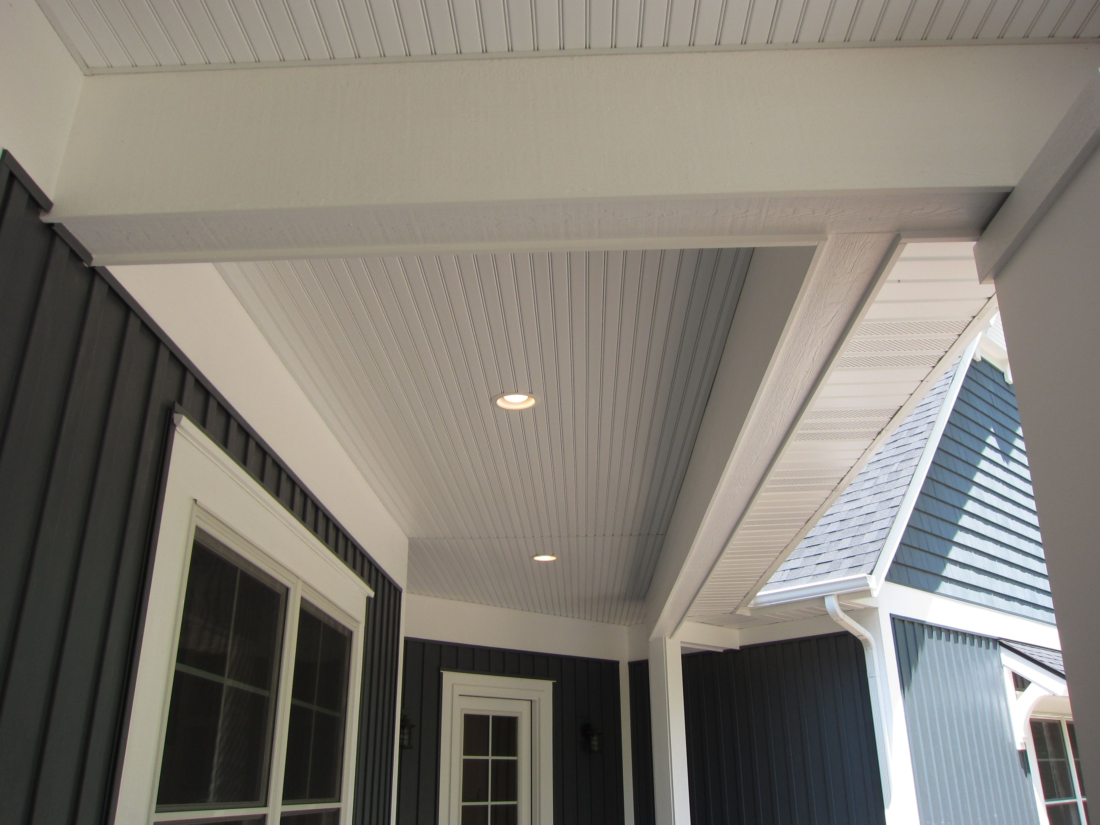 Pin By Shannon Thompson On New House Ideas Porch Ceiling House Paint Exterior Patio Ceiling Ideas
