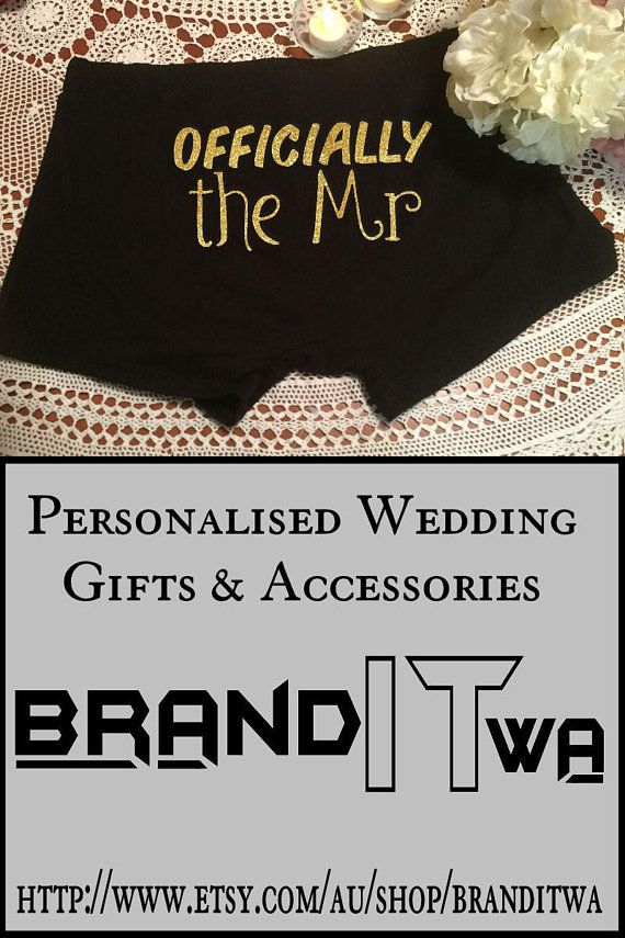 Groom Boxer Officially The Mr Wedding Gift Best Friend Gift