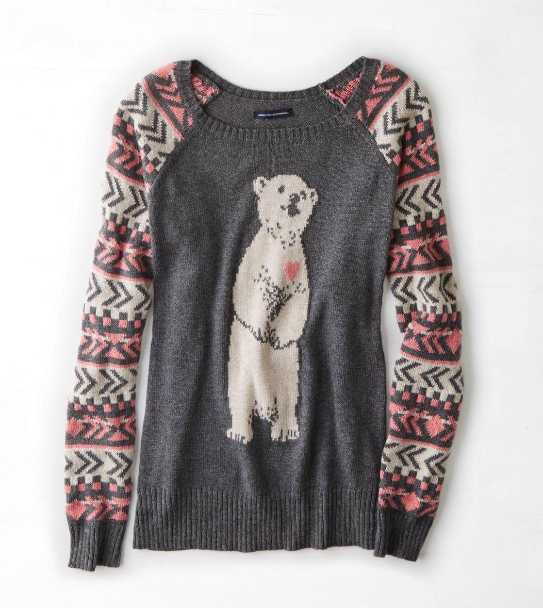AEO Intarsia Critter Sweater. SIZE SMALL