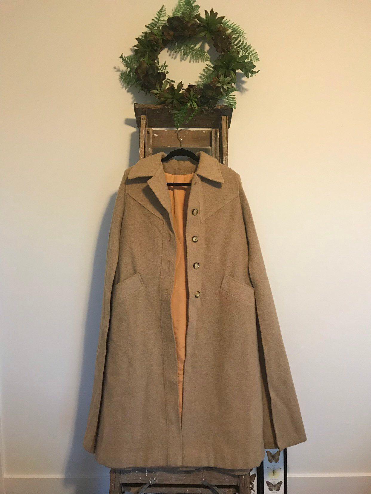 Vintage Wool George David Fashions Cape Cloak  Etsy  Cape