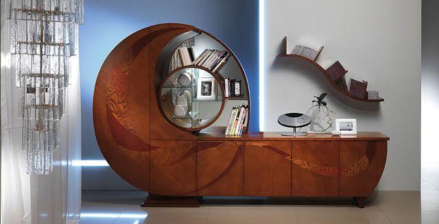 Розкішна шафа для книг в вичурному стилі great stuff on this site
