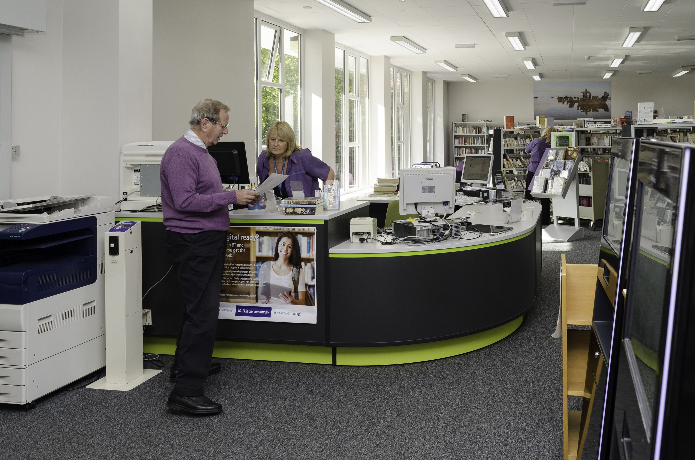 Customers and staff can now enjoy the modern, bright and airy library.