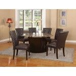 Acme Furniture Granada Brown Marble Top Dining Table 07005 Special Price 857 64 Round Dining Room Table Round Dining Table Sets Round Dining Room