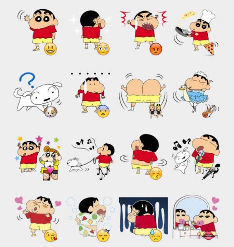 Shinshan Stickers Set Telegram Stickers Shinchan In 2019