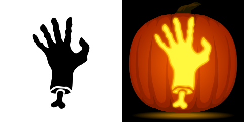 Zombie Hand Pumpkin Carving Stencil Free Pdf Pattern To Download