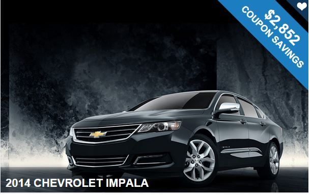 Save Hundreds of Dollars Today  on this 2014 CHEVROLET IMPALA with our coupons! Great Deal!!