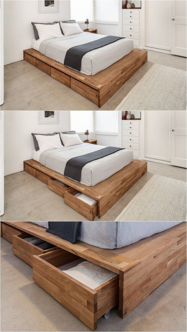 Storage Bed Industrial Style Bedroom Diy Platform Bed Furniture