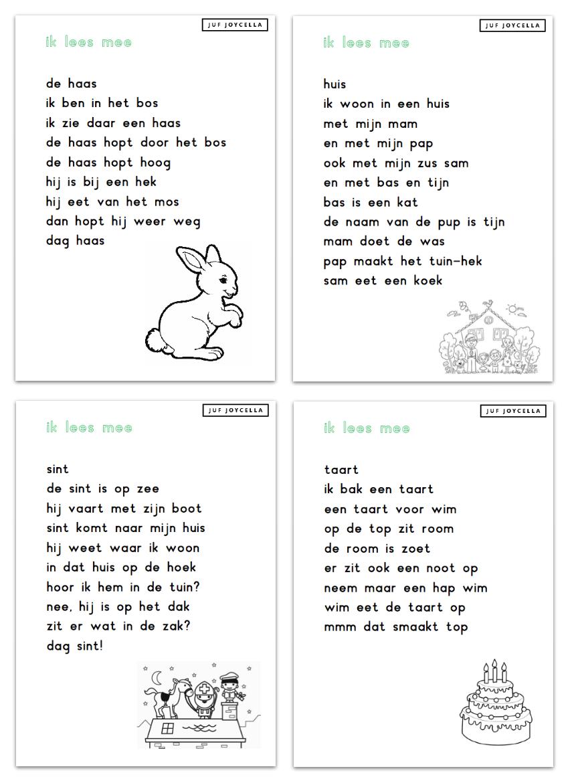 leesbladen kern 4 leren lezen lezen en woorden lezen