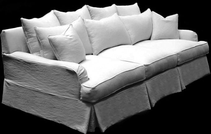 Merveilleux $4,650.00 Taylor Scott Willows Slipcovered Sofa   Awesome Soft Large  Snuggling Sofa. I Love This Style!! My New Sectional: )