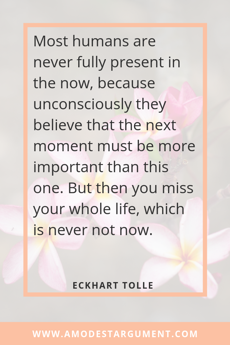 Inspirational quote from Eckhart Tolle   Click for more   A Modest