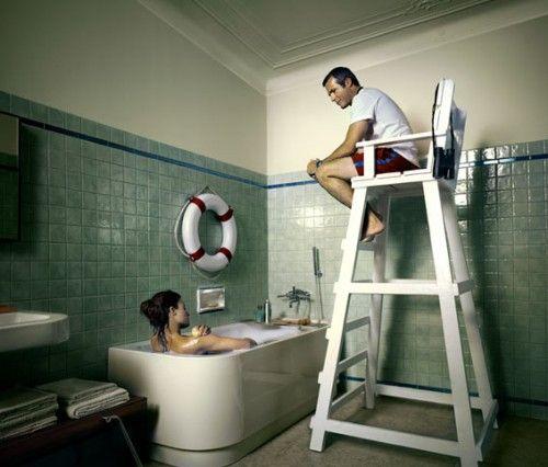 Hello From Uranus Bathtub Lifeguard Working From Home