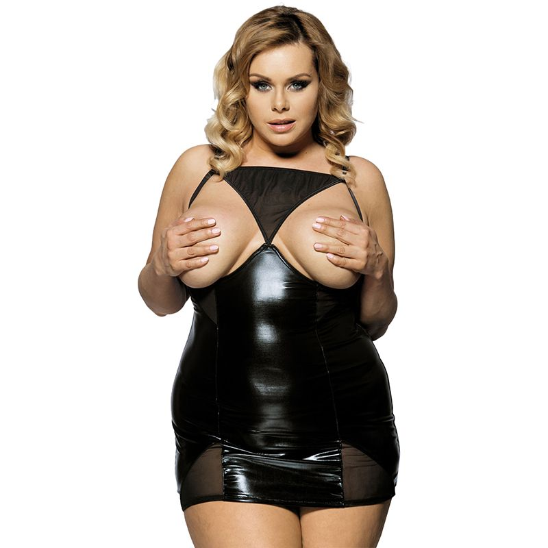 ebe0ae8e95e3 J70338 Hot ropa sexy mujer erotica open bust mesh transparent sexy lingerie  plus size for women faux leather lingerie – Women Shopping
