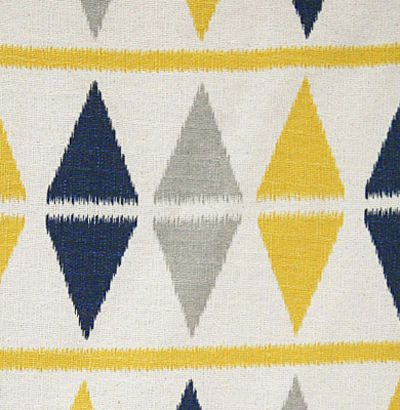 Triangle Geometric Navy Yellow Gray Fabric | so Crafty. | Pinterest ...
