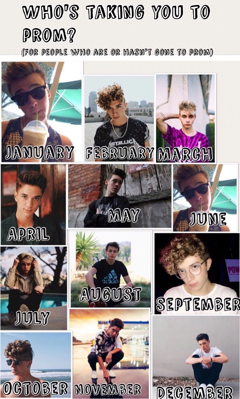 Who's taking you to prom? Comment down below who your lovely date will be #birthdaymonthmeme