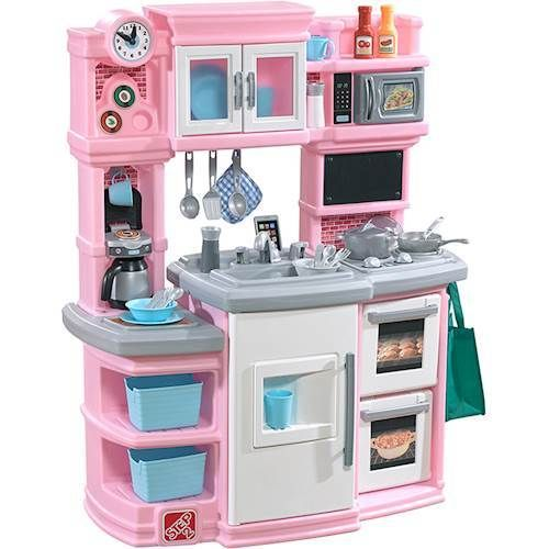 Step2 Great Gourmet Kitchen Play Set Light Pink Storage Bins