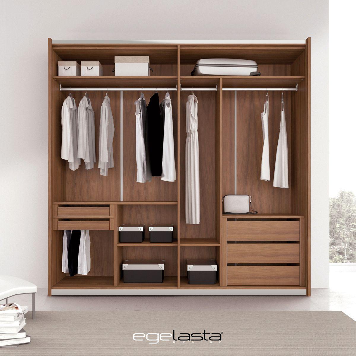 Egelasta open cuarta 201 mueble moderno madera armario vestidor nogal americano - Nogal americano muebles ...