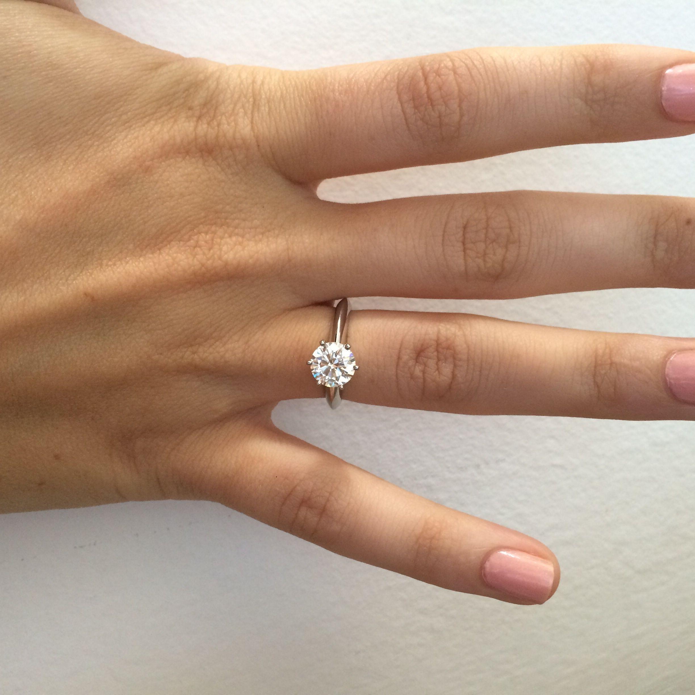 1 5 Carat Diamond Ring Tiffany Ring Pinterest