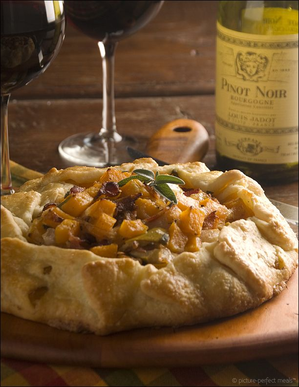 Picture-Perfect Meals: Apple and Butternut Squash Galette with Caramelized Onions and Bacon