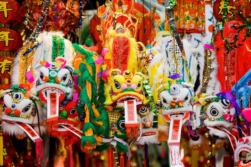 Chinese dragons. Colorful Chinese lunar new year's dragons