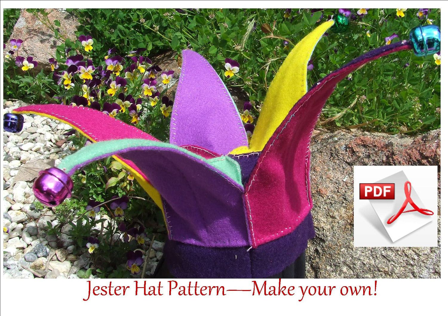 Jester Hat Or Elf Hat Sewing Pattern Elf Or Jester Costume Pattern For Babies 6 To 18 Months