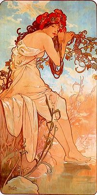 Mucha - I love the soft undertones of orange throughout the picture.