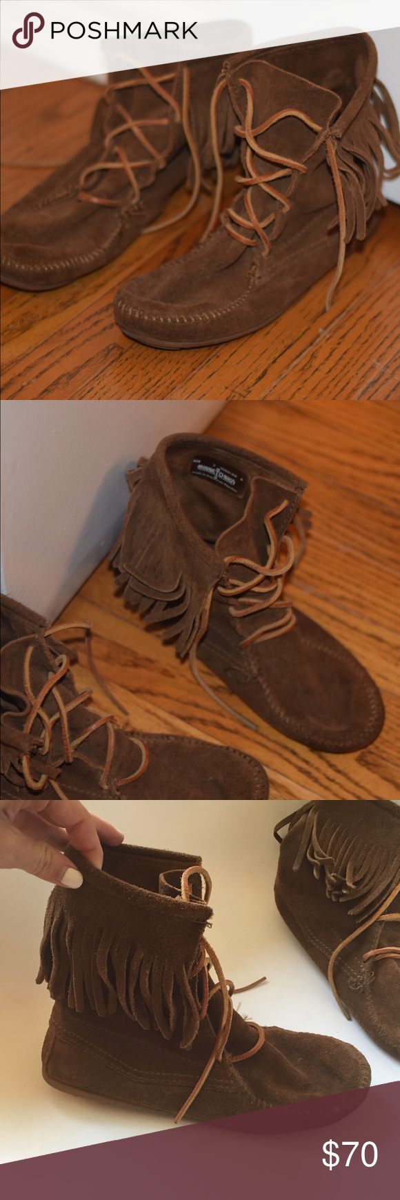 Minnetonka moccasins - 7 Minnetonka moccasins in size 7. Very lightly used. Great condition. Minnetonka Shoes Moccasins