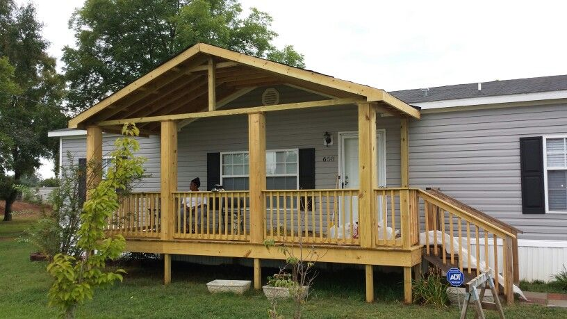 Added roof to Treated deck (With images) Manufactured