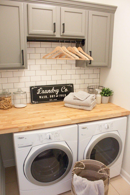 Modern Farmhouse Laundry Room Reveal Laundry room