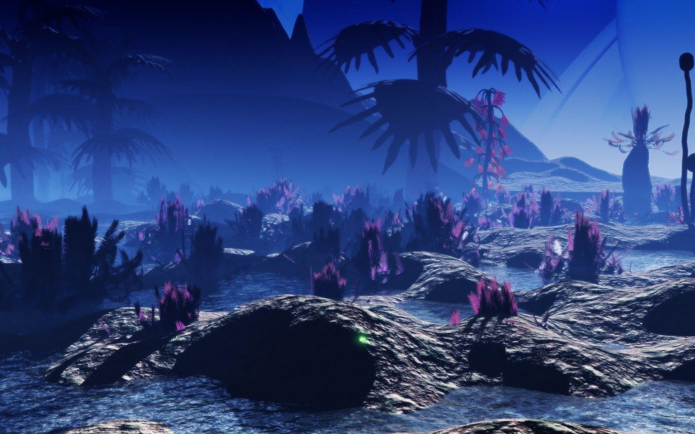 Alien Landscape Wallpaper In 2019 Landscape Wallpaper