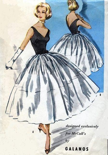 Mccall S 4045 A Vintage Dress Patterns Cocktail Dress Patterns