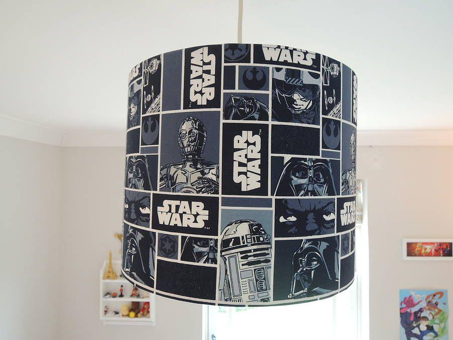 Handmade Lampshade In Star Wars Fabric By The Shabby Shade |  Notonthehighstreet.com