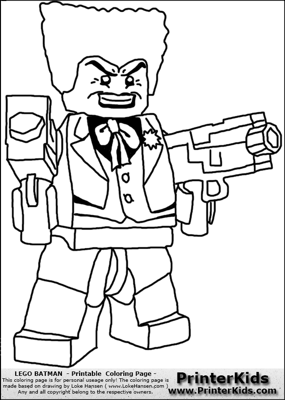 Lego Batman Joker Colouring Pages