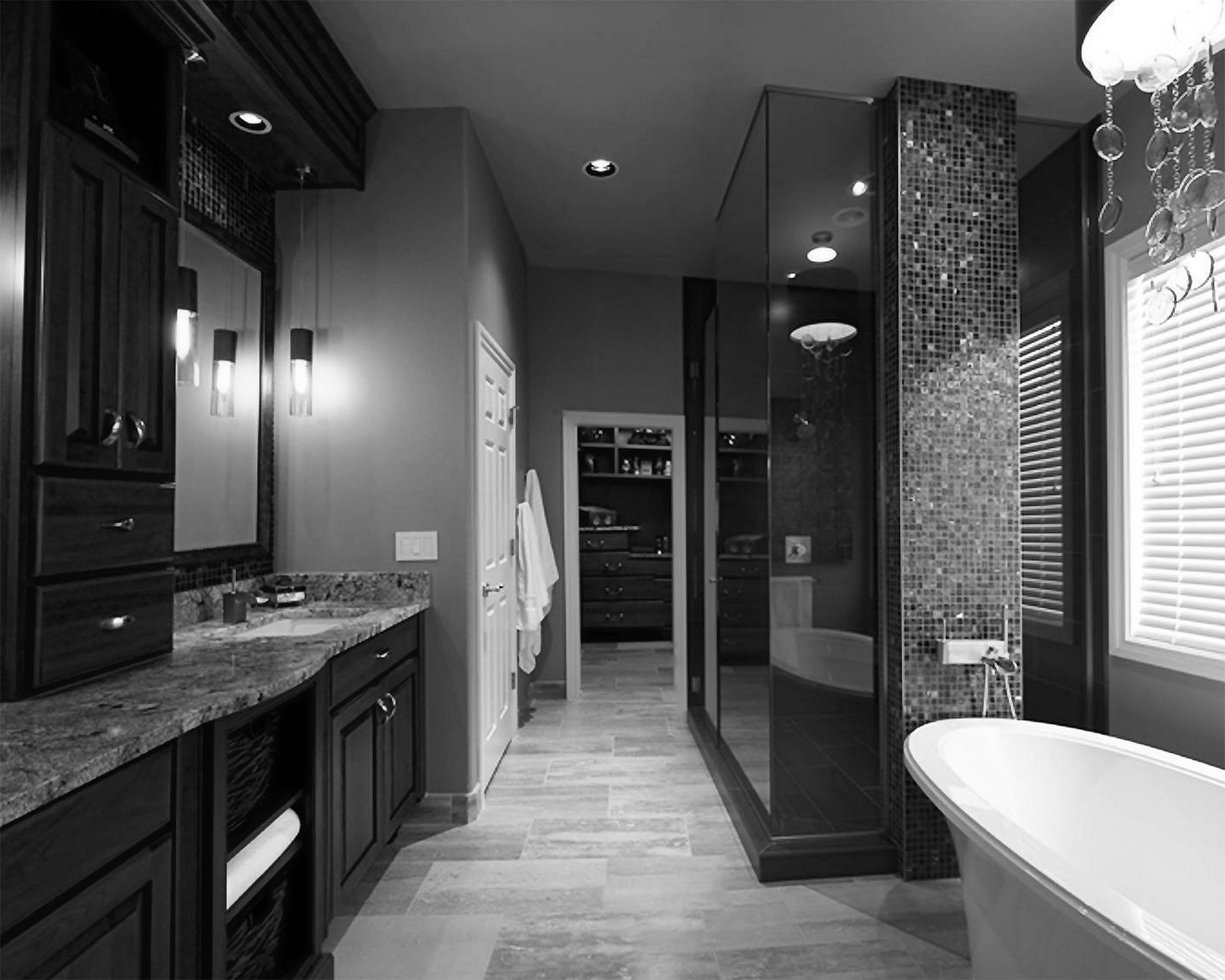65 Best Black Bathrooms Interior Ideas For Cool Bathroom Design Freshouz Com Bathroom Design Black White Bathroom Decor Black White Bathrooms Bathroom decor ideas black