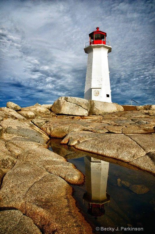 A nice view of Peggy's Cove Lighthoiuse, Nova Scotia, CN