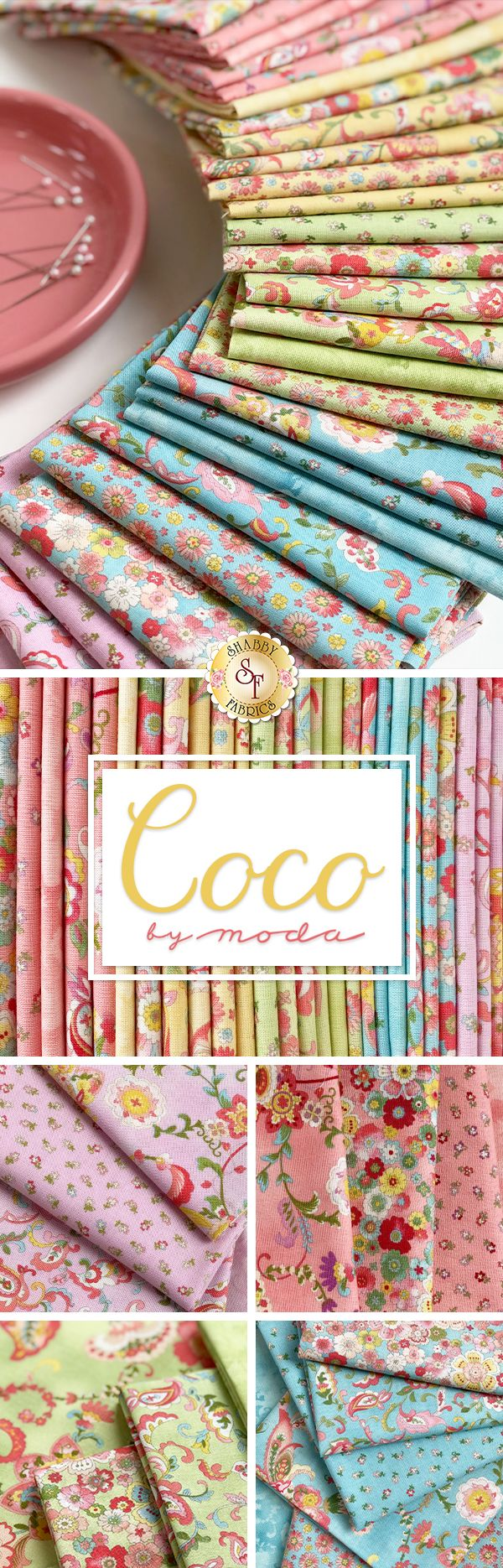 Coco is a colorful summer collection by Chez Moi for Moda ...