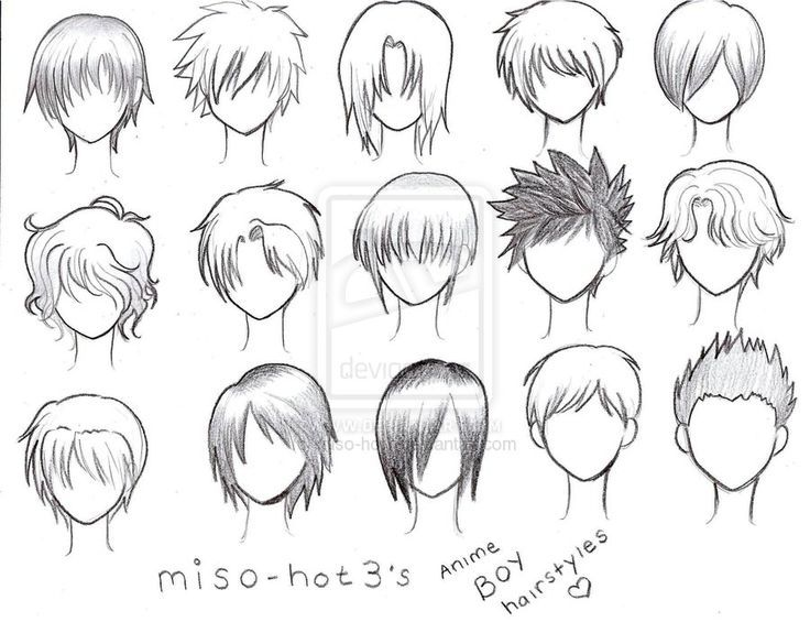 How to draw anime hair for size570x700 anime boy hairstyles by miso