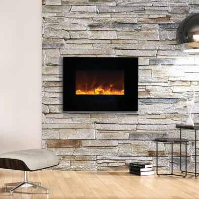 The Amantii 26 Wall Mount Electric Fireplace Wm Fm 26 3623 Bg Is